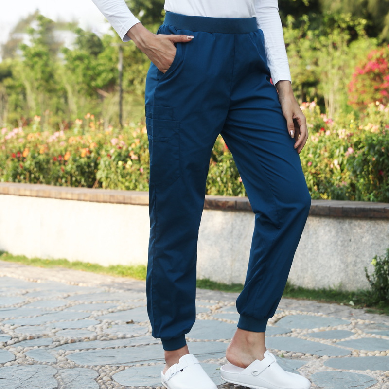 Natural Rise Leg Jogger Pant Medical Scrub Pants Women Men Nurse Work Trousers Hospital Dentist Jogger Sport Pants