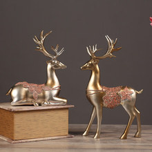 Colorful love deer decoration supplies living room wine cabinet decorations family personality furniture wedding gift home цена и фото