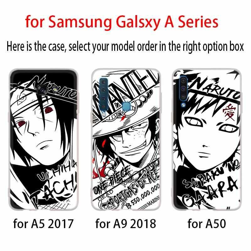 Karikatür Kroki Naruto Tek Parça tarzı Telefon samsung kılıfı Galaxy A10 A20 A30 A40 A50 A60 A70 A6 A8 Artı A7 a9 2018 A3 A5 2017