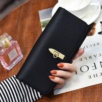 Neue 2017 Frühling Mode Pu-leder Berühmte Designer SINOWEGO Frauen Brieftasche Lange Weibliche Kupplung Geldbörse Karte Münzhalter Kleine Tasche
