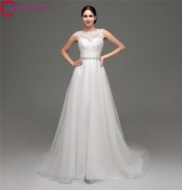 en stock blanco/marfil vestidos de novia baratos hechos en china sin