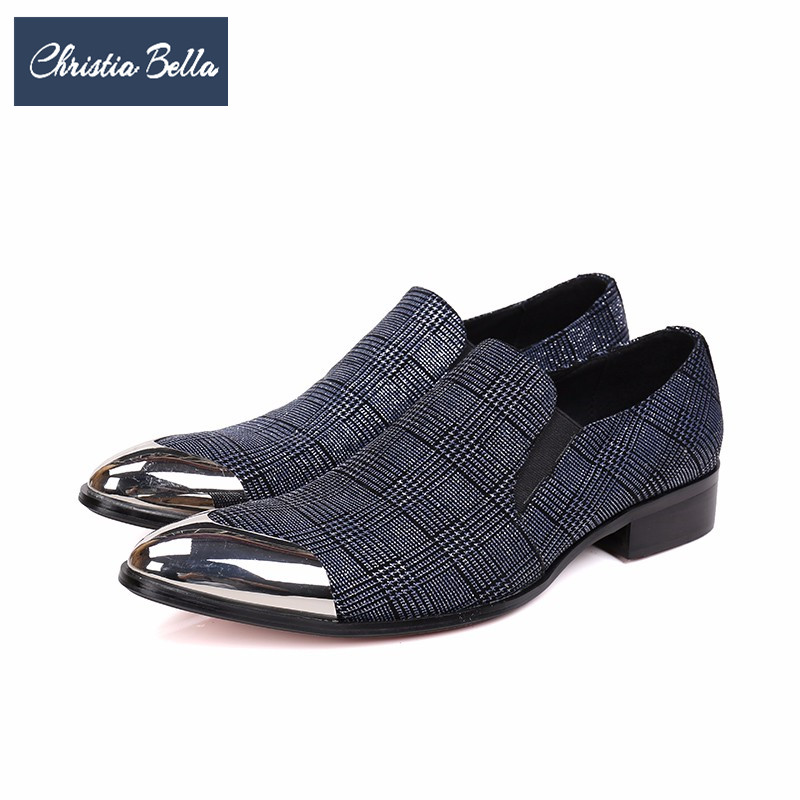 Christia Bella Fashion Lattice Men Shoes Wedding Banquet Men Dress Shoes Slip on Fashion Business Office Formal Shoes Big Size retro british school women messenger bag embossed hollow out shoulder briefcase department of forestry casual satchel