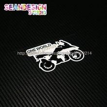 BMW GS macera F700GS F800GS R1150 R1200GS ADV bir dünya bir GS kask moto rcycle çıkartmaları moto çıkartmaları su geçirmez 22