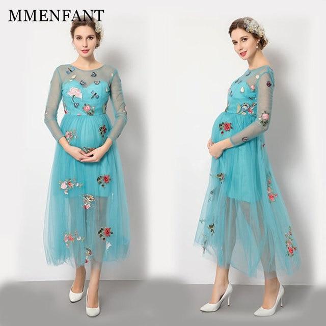 Maternidad Verano Ropa Vestido De 2017 Bata Estilo Grossesse Fotos Para Sesión Nuevo qFqw6IS