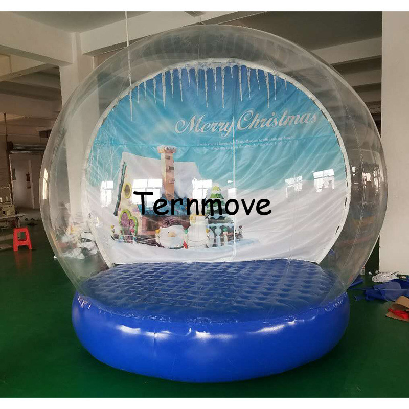Inflatable Christmas Ball for photo,Custom new year Decoration PVC Christmas festival Inflatable Snow Globe for Display 2017 vioslite 2 1m inflatable christmas tree with bag in high quality for festival decoration