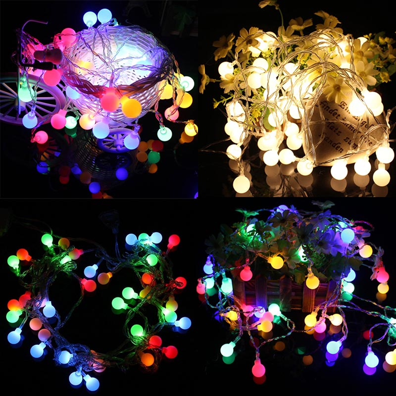 Beautiful NEW 50 LED String Decorative Lights Battery Operated Wedding Christmas Outdoor  Patio Garland Decoration(China