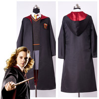 Adult Hermione Granger Cosplay Costume and Hermione Wig Long Hair Adult Gryffindor Uniform Dress for Women Full Set Costume
