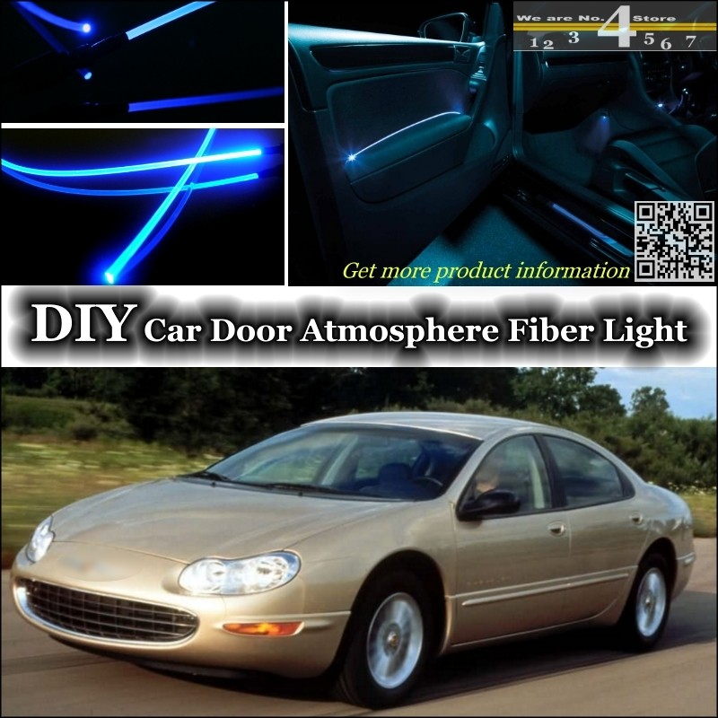 For Chrysler Concorde interior Ambient Light Tuning Atmosphere Fiber Optic Band Lights Inside Door Panel illumination Tuning