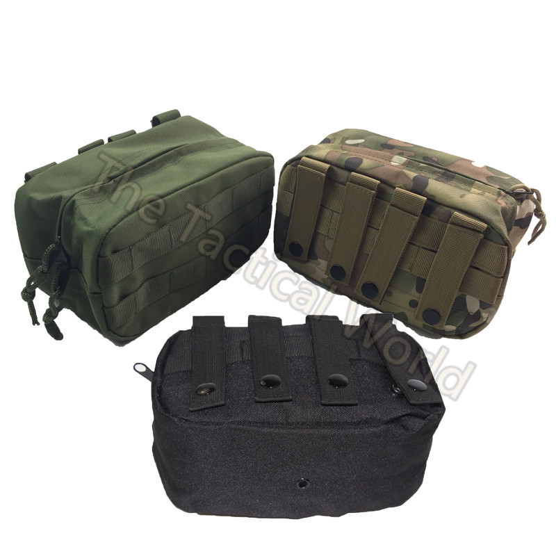 New Nylon Waterproof Small Utility Pouch <font><b>Tactical</b></font> Military Airsoft Outdoor Tools Magazine Drop EDC <font><b>Molle</b></font> Bag Outdoor Sport Case image