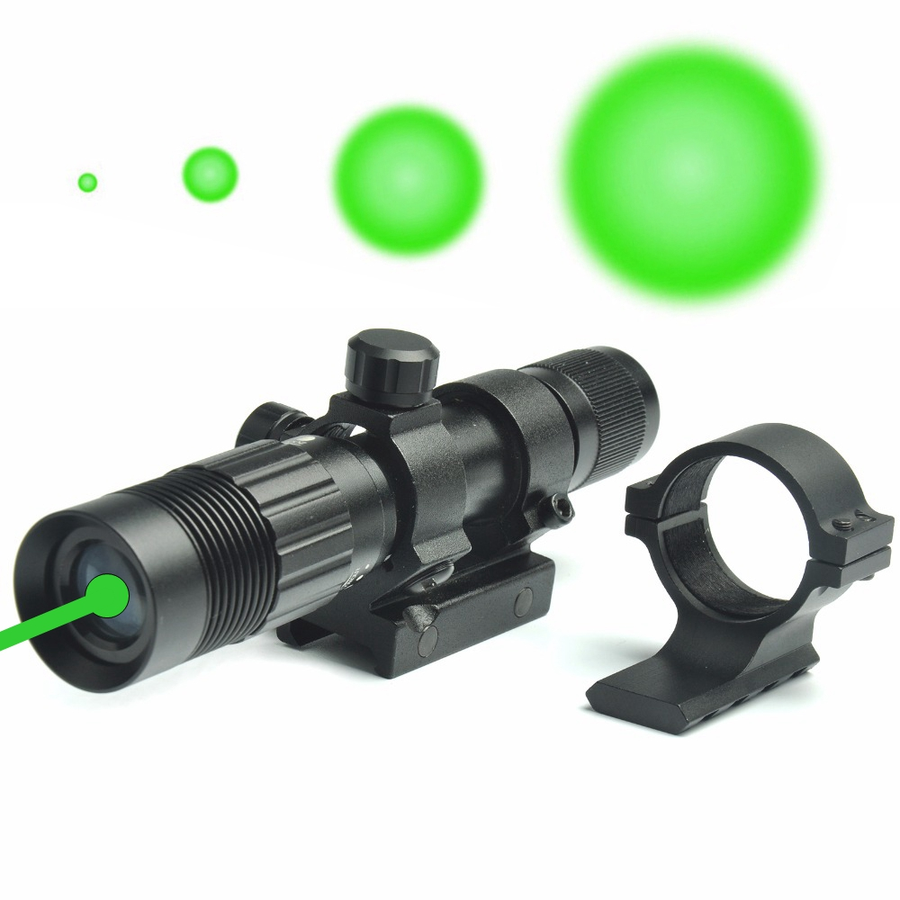Adjustable Green Dot Laser Sight Designator Illuminator Flashlight Fit for 20mm Rail Mount for Hunting Rifle цена 2017