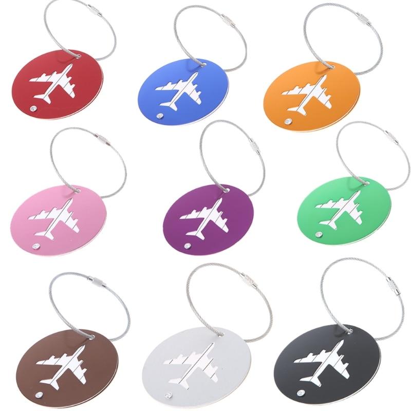 Travel Aluminium Luggage Tags Suitcase Label Holder Name Address ID Baggage Tag