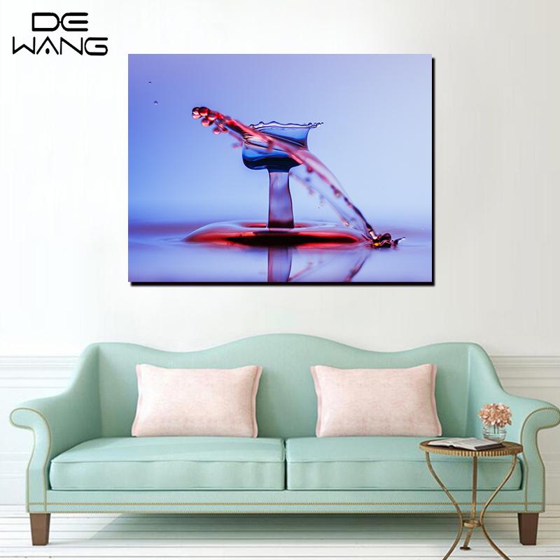 Einzelne Platten Leinwand Kunst Gedruckt Poster Abstrakt Blut Wasser ...