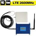 ЖК-Дисплей 4 Г LTE 2600 мГц Сигнала Мобильного Телефона Усилитель 70dB получить 4 Г Интернет Мобильный Телефон Сотовой Повторитель + 4 Г антенна