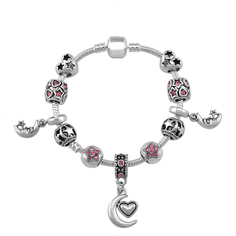 2019 New Moon Charms Bracelet For Women Stars Bead Fit Pandora Bracelets Women Shopping Travel Jewelry Fashion Pa155 Buy At The Price Of 3 69 In Aliexpress Com Imall Com