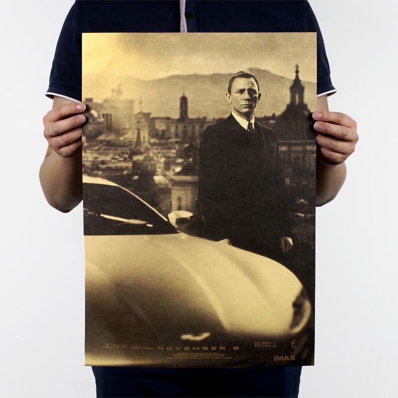 James Bond B Style/Daniel Craig 007/classic action movie//kraft paper/bar poster/Retro Poster/decorative painting 51x35.5cm