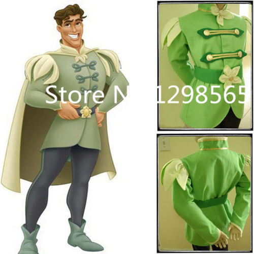 Custom Made The Princess And The Frog Prince Naveen Cartoon Costume Suit Adult Party Cosplay Costume
