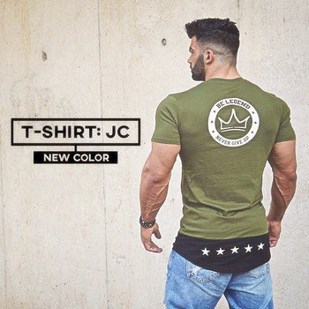 Casual men Short sleeve t shirt Fitness bodybuilding shirts t-shirt BeLegend Brand tee tops Fashion gyms clothing
