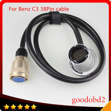 For benz 38pin cable MB Star C3 diagnosis multiplexer compact-3 Interface  Diagnostic Tool truck 38P 38-pin connect port cable