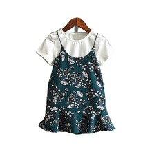 Kids T-shirt+Flower Dress Summer