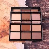 MISS ROSE Concealer Face Highlighter Palette 6 Color/Set Glow Highlight Palette Powder Conturing Makeup For Female Bronzers & Highlighters