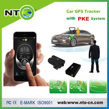 NTG01C new pke car alarm with engine start stop button supporting gsm mobile app or sms control car gps online tracking цена