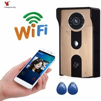 Yobang Security Freeship 720P WIFI Wireless Video Doorphone Camera Motion Detection Alarm WIFI Doorbell With RFID