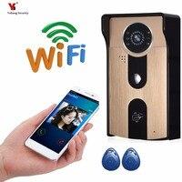 Yobang Security Freeship 720P WIFI Wireless Video Doorphone Camera Motion Detection Alarm WIFI Doorbell With RFID