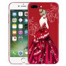 For iphone 6 6s 6plus patterned mobile phone cases for girls soft TPU fillted case for iphone 7 7plus 8 8plus Painted back cover
