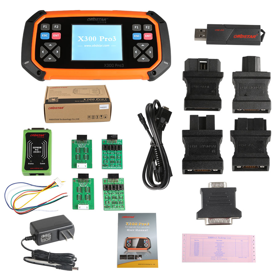 OBDSTAR X300 PRO3 Key Master with Immobiliser+Odometer Adjustment+EEPROM/PIC+OBDII Auto Key Programmer Suport G/H Chip Key Lost