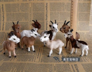 5 ppieces a lot small cute simulation sheep toys lifelike prone sheep models about 12cm