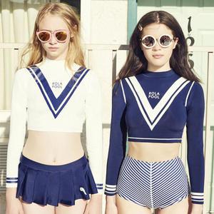 661c9f0ffe552 2-piece Set Skirt Crop Top with Shorts Sun UV Protection Womens Long Sleeve  Rashguard
