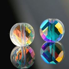 Super shiny 6mm/7mm faceted Distorted beads Austria crystal glass Jewelry for Bracelet&earrings accessories 100pcs