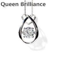 Exclusive Design Custom Brilliant 1 Ct Moissanite Platinum 950 Pendant Necklace Fine Jewelry For Women Gift