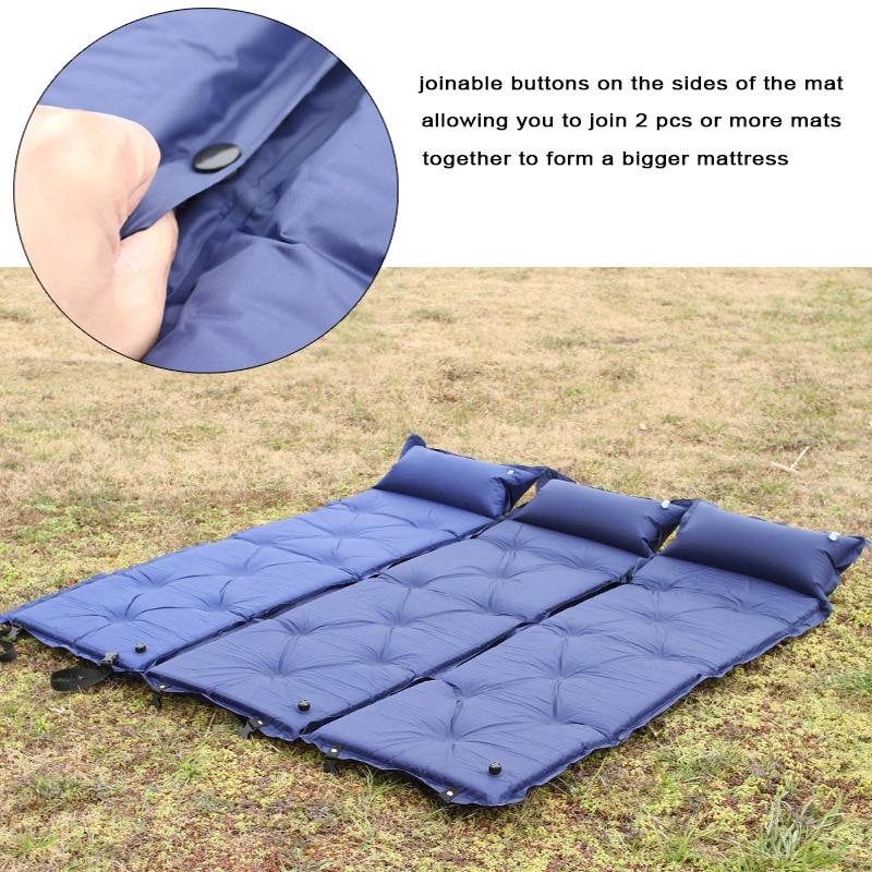 Self Inflatable Inflating Air Mattress Sleeping Pad Outdoor Bed Camping Mat J0