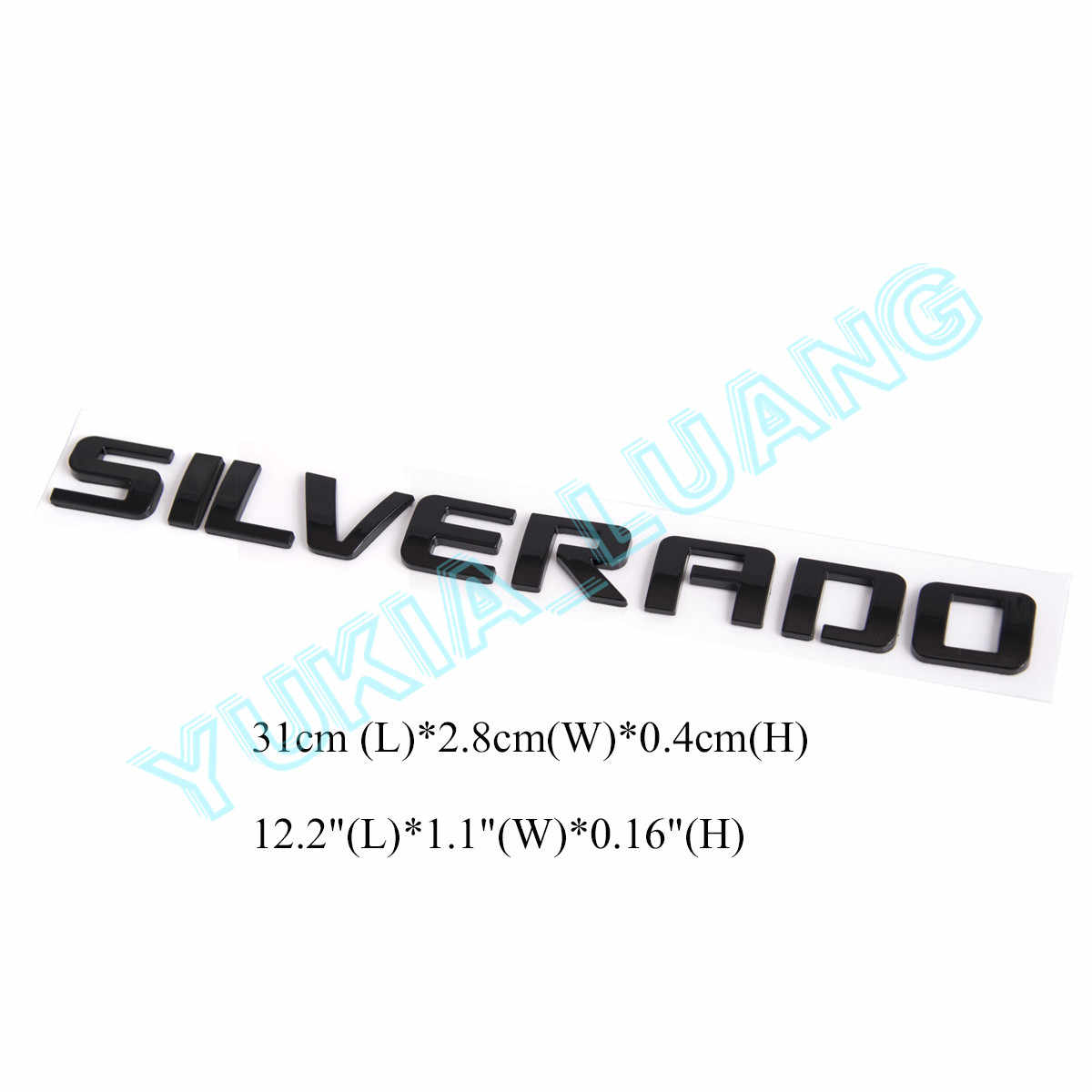 Chrome 1Pc Grille HIGH Country Car Emblem Replacement for Badges Door Tailgate 3D Nameplate for Chevrolet Silverado 1500 2500HD Sierra 3500HD