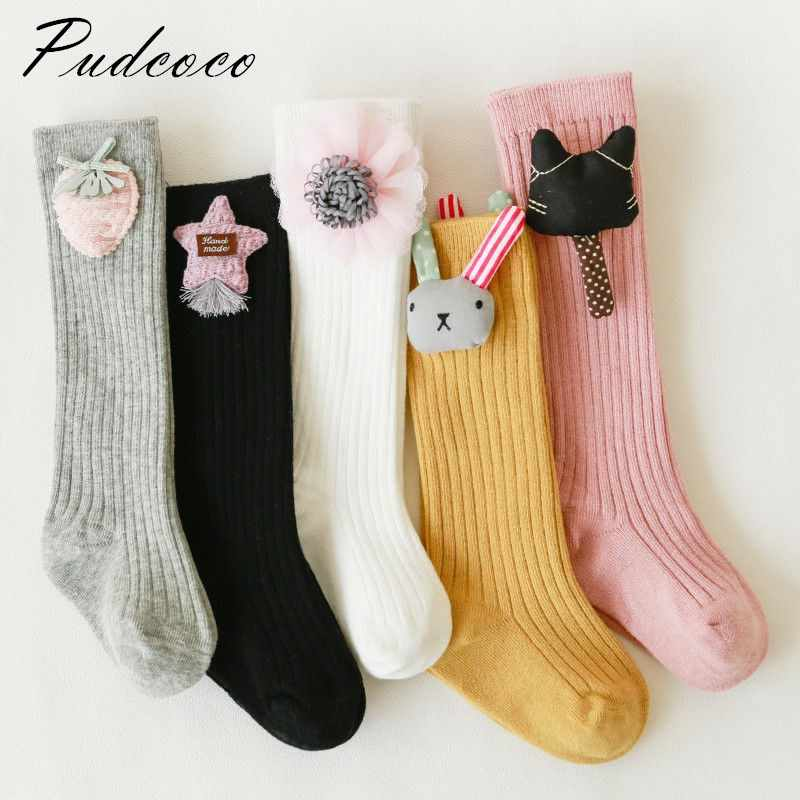 Pudcoco 2018 Brand New Toddler Kid Baby Girl  Casual Plain Stockings Gifts