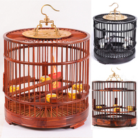 Pet Products Ebony Red Wood Birdcage Bird Supplies Nest Home Decoration Crafts Solid Zambian Laos Rosewood Classical Bird Cage