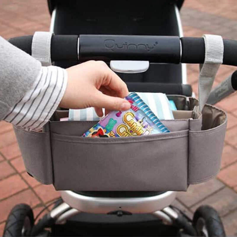 Baby Stroller Hanging Bag Large Capacity Multi-function Diaper Nappy Milk Bottle Storage Bag Trolley Mummy Accessory Bags