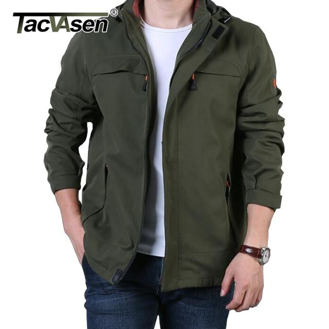 TACVASEN 2019 NEW Military Tactical Jacket Coat Men's Autumn Windbreaker Spring Waterproof Breathable Jacket Outwear TD-QZYF-001