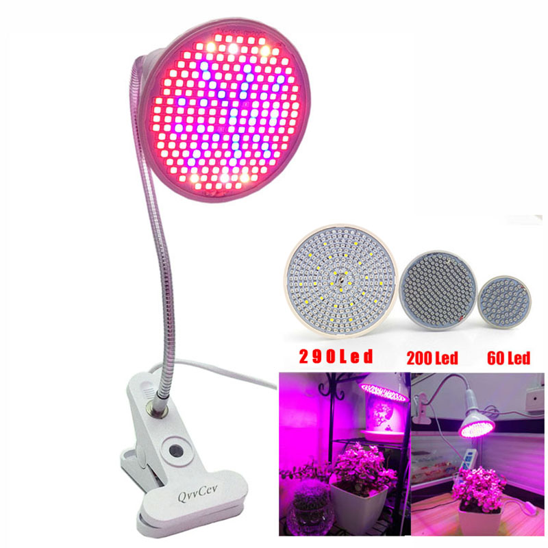 60 126 200 Led Grow Light Bulb 360 Flexible Lamp Holder Clip For Plant Flower Vegetable Growing Indoor Greenhouse Hydroponics