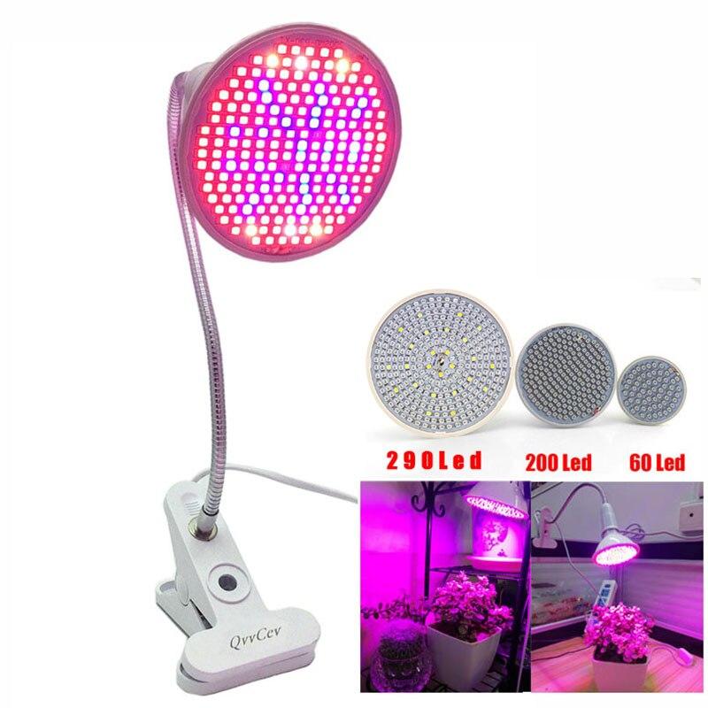 60 126 200 Led Grow Light bulb 360 Lampada Flessibile della Clip del Supporto per la Pianta Del Fiore idroponica orticoltura serra Coperta