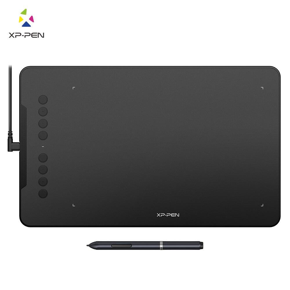 XP-Pen Deco 01 Графический планшет для рисования с 8192 уровней давления пассивного стилуса и 8 горячих клавиш