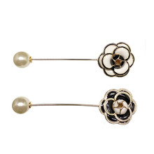B104 Camellia Luxury Brand jewlery flowers Pins pearls Jewelery Brooches Enamel Broche Broach Jewelry for Women