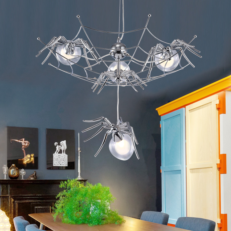 Different Spider Living room Pendant Lamp Led Bulb Restaurant Children room Pendant Lights Cord Suspension Hanging Lamp Art Deco