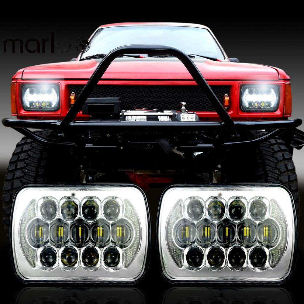 Marloo 2x LED 5 X 7 Headlight For Jeep Cherokee XJ Trucks 7x6 LED Headlights For International Harvester 4700 4800 4900 8100 international 4700 4800 4900