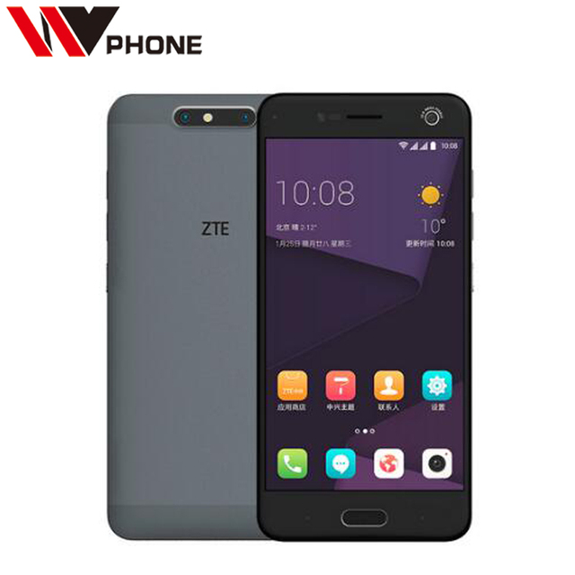 Original ZTE Blade V8 4G Mobile Phone Snapdragon 435 Octa Core Android 7.0 4G/ 64GB ROM 5.5 Inch 13.0MP Dual SIM Fingerprint