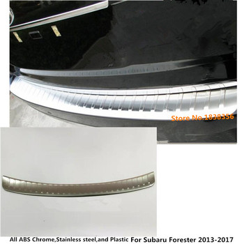 For subaru Forester 2013 2014 2015 2016 2017 external Rear Bumper Protect trim car style cover Stainless Steel plate pedal 1pc