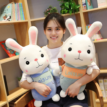 New 1pc 30-80cm Lovely Little White Rabbit plush toy rabbit bed cloth doll Girl Doll pillow baby birthday gift Christmas maxcity baby little rabbit