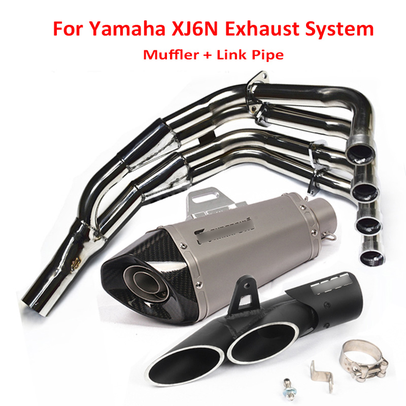 Slip On XJ6N Motorcycle Exhaust Tip System Exhaust Pipe Muffler Silencer Front Connect Link Pipe For Yamaha XJ6N XJ6N