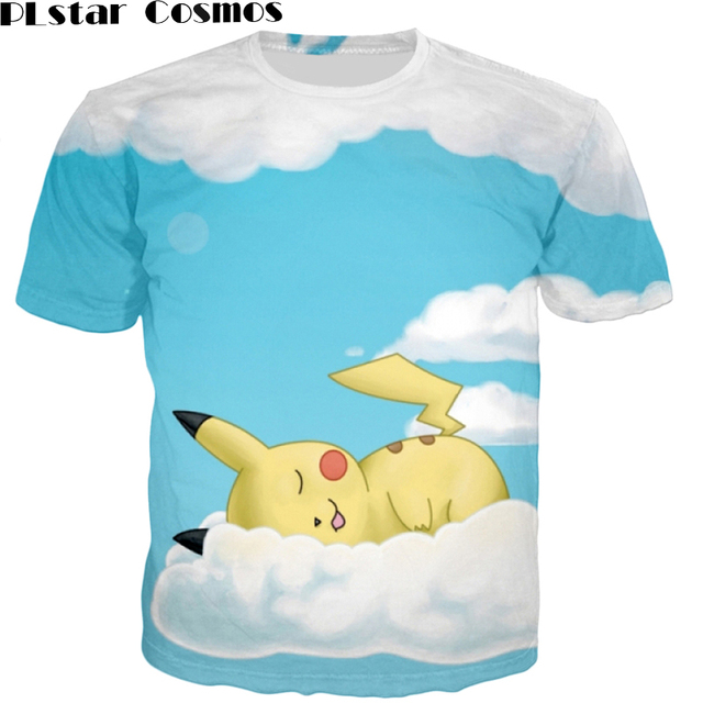 81ffe7edc14 PLstar Cosmos Cute Cartoon Pokemon t shirts Squirtle 3D t shirt Men Women  Summer tees Funny Zenigame tee shirts 24 models